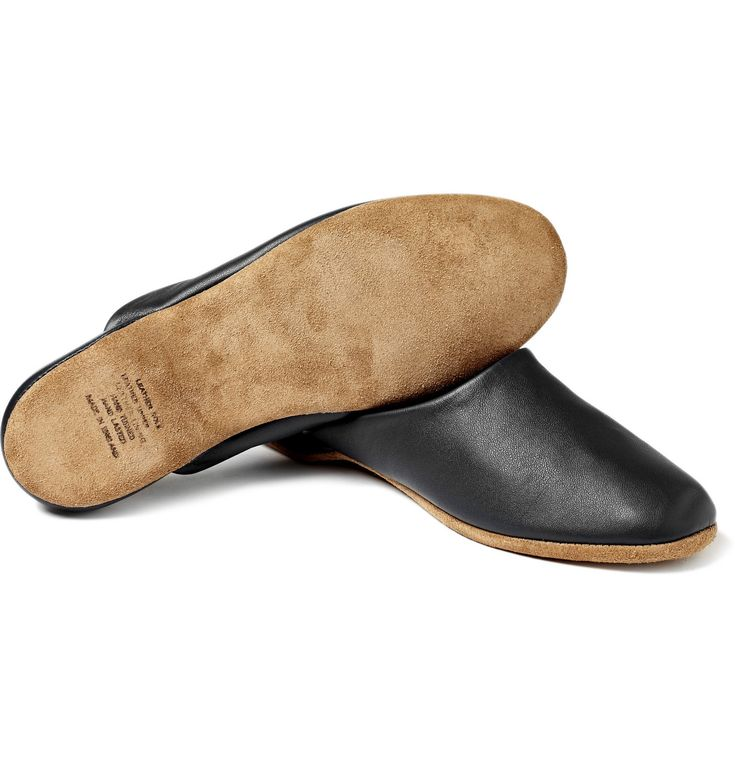 From the master of nightwear <a href='http://www.mrporter.com/Shop/Designers/Derek_Rose'>Derek Rose</a>, these incredibly soft leather slippers are the last word in old-school style. Wear them with a luxurious dressing gown and your favourite pyjamas for a refined loungewear look.