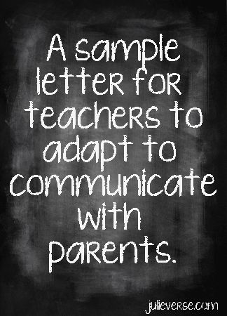 Dear elementary teachers, Feel free to copy this and adapt to fit your classroom. We, your students' parents, would love some communication. Really. We want to hear from you. As an educator, former elementary school teacher and a parent, I understand how busy teachers are, but I also understand the necessity in communication to run [...]