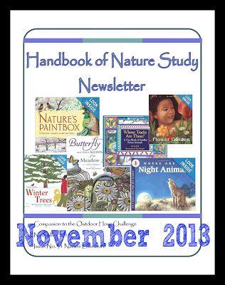 Handbook of Nature Study Newsletter November 2013--free printables for November!