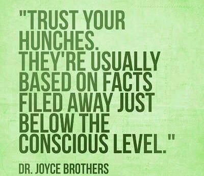 ...They're usually based on facts filed away just below the conscious level. | #INTJ #intuition