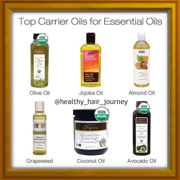 carrier oils for hair. top carrier oils for essential hair