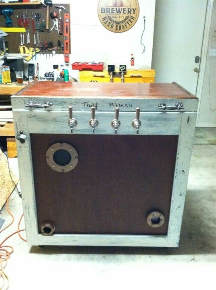 Steampunk keezer DIY kegerator build #kegerator