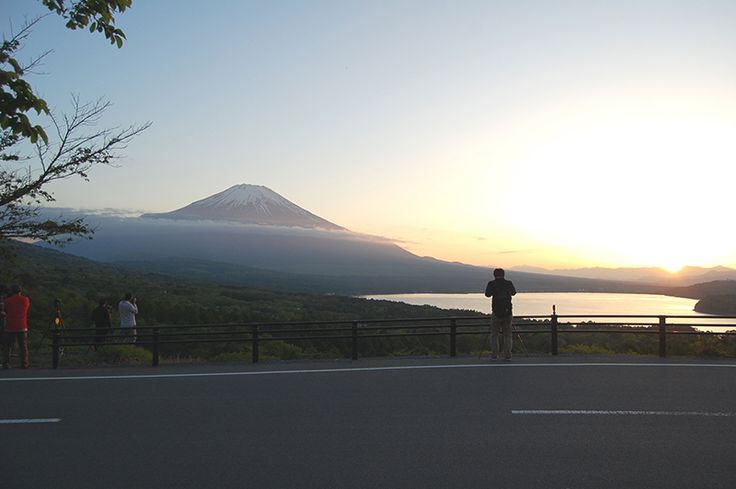 Fuji Five Lake in Yamanashi Japan(Lake Yamanaka).
