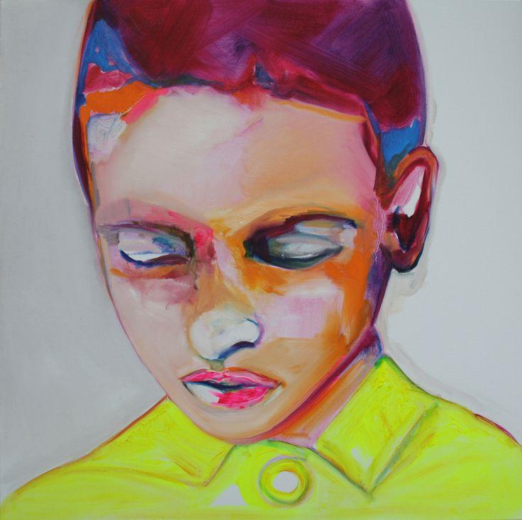 "Saatchi Online Artist: Patricia Derks; Oil, 2013, Painting ""Innocent 2"""