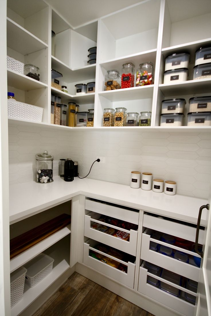 Walk In Pantry Custom Built Walk In Pantry With A Stone