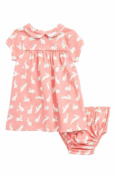 Mini Boden Bunnies Print Jersey Dress (Baby Girls & Toddler Girls) #babygirlpajamas