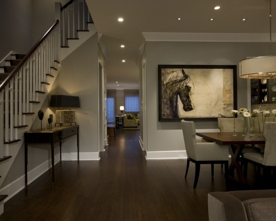 Floors And Wall Color Honore Transitional Dining Room