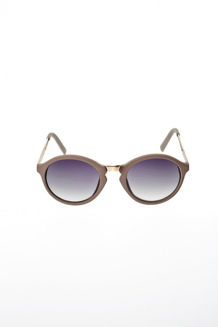 Round Sunglasses in Nude by You & I