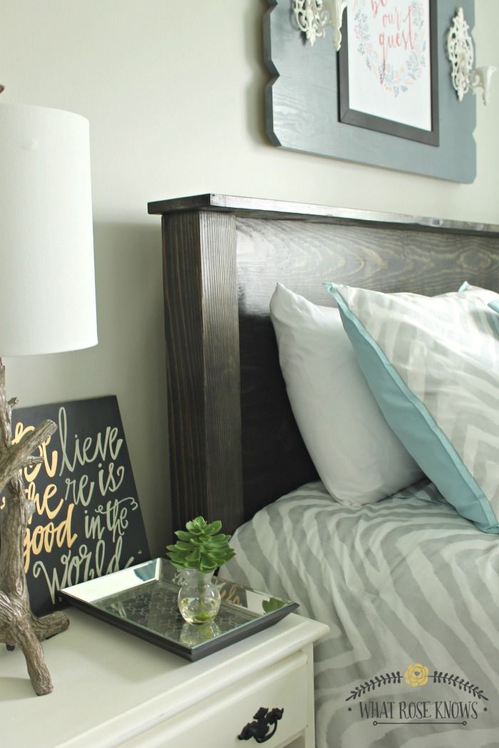 And the headboard was made for less than fifty bucks!? | Home Love |  Pinterest | Reclaimed wood headboard, Wood headboard and Bedrooms