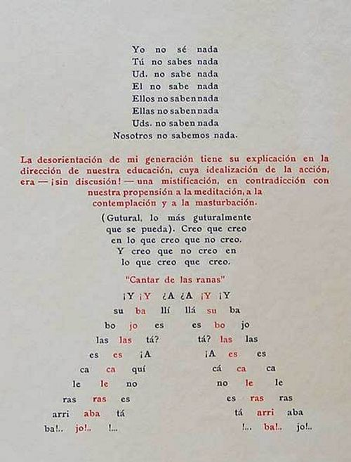 Oliverio Girondo's visual poem