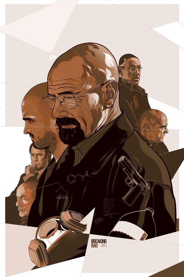 Breaking Bad (Superb Collection of Poster Art by Vincent Aseo - GeekTyrant)