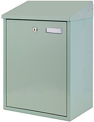 Hardcastle Large Outdoor Wall Mounted Mailbox - Sage Green: Amazon.co.uk: Kitchen & Home