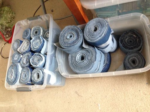 A Tutorial: How to Make Denim Yarn From Old Denim Jeans | On My Creative Side