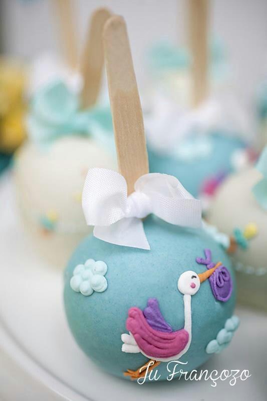 Baby Shower Cake Pops...so sweet!