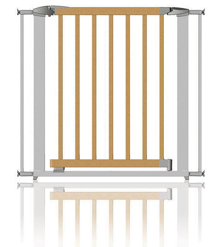 Clippasafe Extendable Swing Shut Gate -Silver Metal and Wood 72.5 - 95cm * Want to know more, click on the image. (This is an affiliate link and I receive a commission for the sales) #MyDog