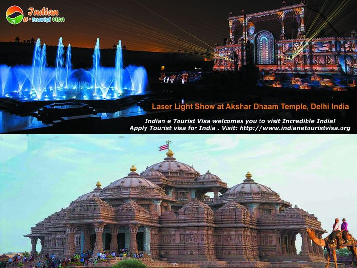 Do you have passion about monuments? India is the country of amazing monuments & temples. Apply Tourist visa for India at Indian e Tourist Visa and get a chance to visit Laser light show and Akshardhaam Temples Delhi. To apply Urgent Tourist Visa for India, Visit: http://www.indianetouristvisa.org