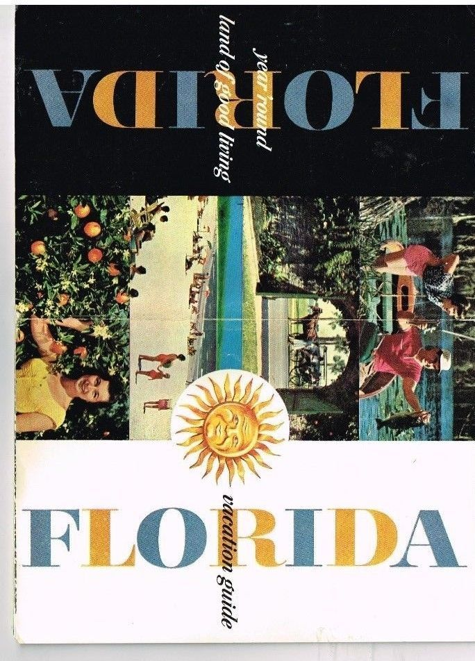 1958 Florida Vacation Guide Booklet Travel Brochure Promo Pictures Information