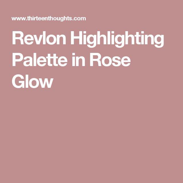 Revlon Highlighting Palette in Rose Glow
