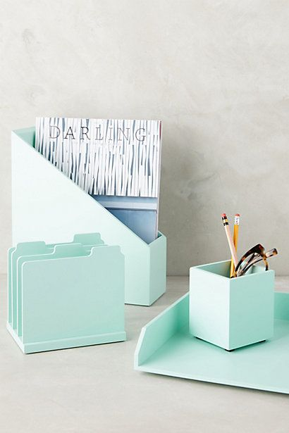 Mint green desk accessories: Elby Desk Collection #anthropologie