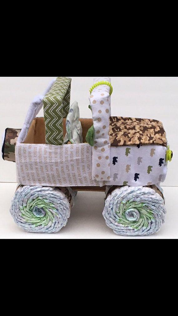 Jeep de pañal de bebé de camuflaje camo bebé ducha pieza