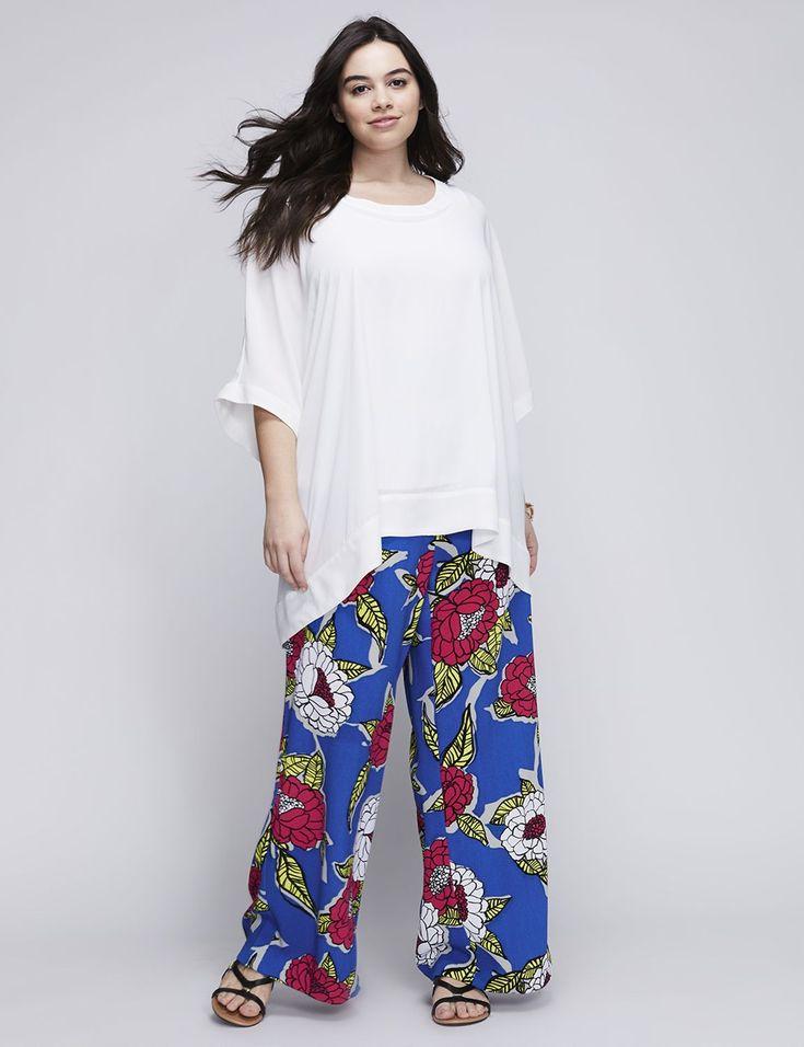 Printed Pants by Melissa McCarthy Seven7