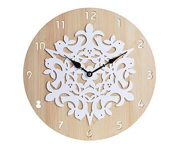 Reloj de pared en madera Birds