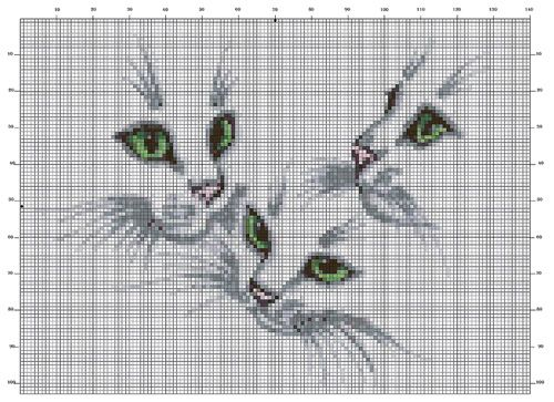 Siluetas - Hilos para Bordar (DMC, Rosace, Anchor, Panda, ...) y ...If you are a cat person, wouldn't this be dramatic on a sweater, poncho, blanket, etc.? tapestry crochet