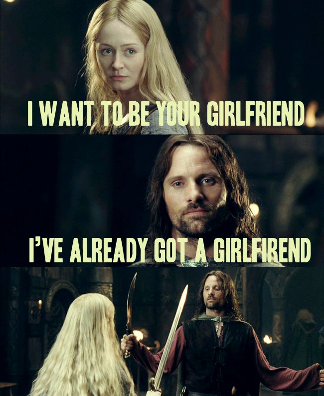 Image result for eowyn and aragorn meme