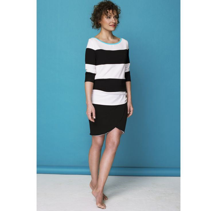 Stripe top with contrasting hem by Bluebirds & Co. / Design your own! Pick & mix colours and fabrics at www.bluebirds.co  #bbrds #personalized #clothing