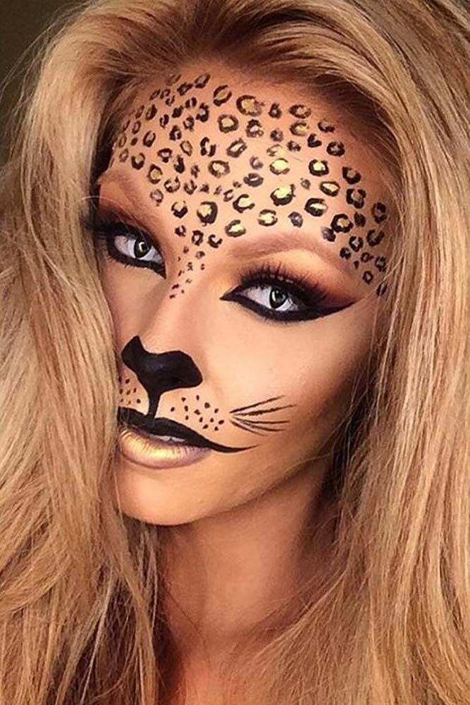 33 sexy halloween makeup looks that are creepy yet cute - Cat Eyes Makeup For Halloween
