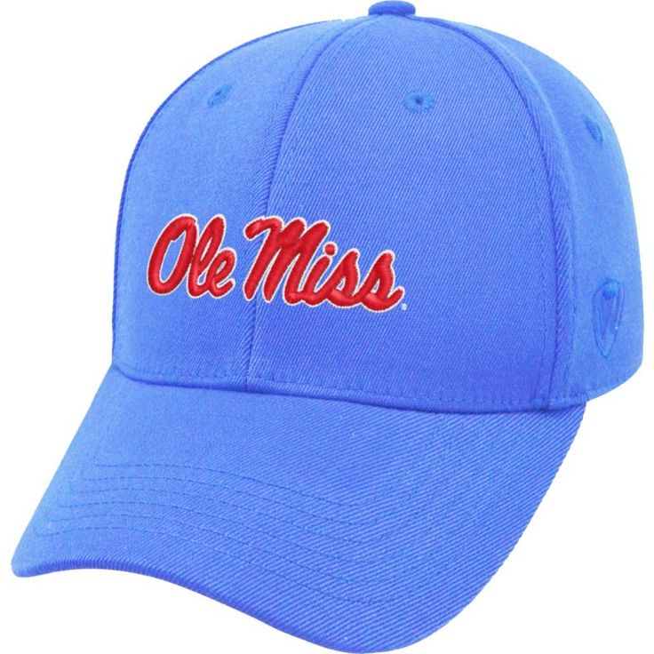 Top of the World Men's Ole Miss Rebels Light Blue Premium Collection M-Fit Hat, Size: Medium/Large, Team