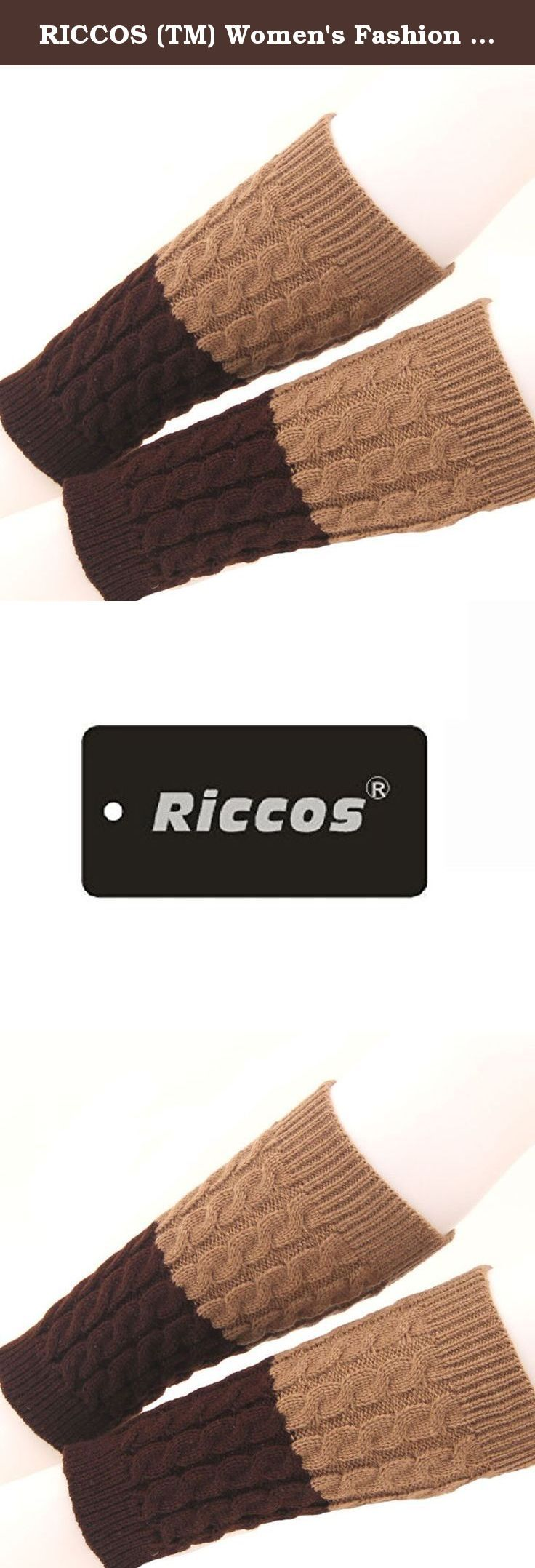 RICCOS (TM) Women's Fashion Winter Stretchy Thickened Warm Knitted Knee High Boot Socks Cuffs Leg Warmer (Khaki and Coffee). It is very warm and the design is keep up with the fashion. RICCOS knitted and Multi Colors leggings for a fun and fashionable effect.