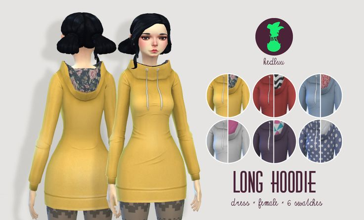 [KEDLUU] LONG HOODIEfun cozy long hoodies with contrasting lining in the hood partcategorised as short dressesnew mesh6 swatches in various colours and patternsDOWNLOAD LONG HOODIE(Dropbox) - fixedThank you for downloading! Feel free to tag me as #kedlu or #kedluu, if you use this, so I can see it :) Also please message me about any problems, if you encounter any.