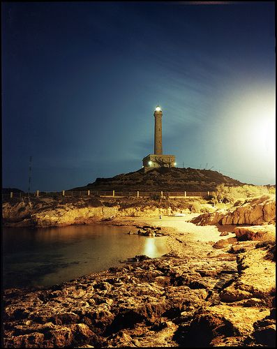 Lighthouse in La Manga - Spain by grooveb, via Flickr