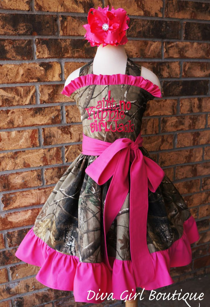 Christmas dress boutiques - Girls Boutique Dress Birthday Dress Childrens Clothing Camo Pink
