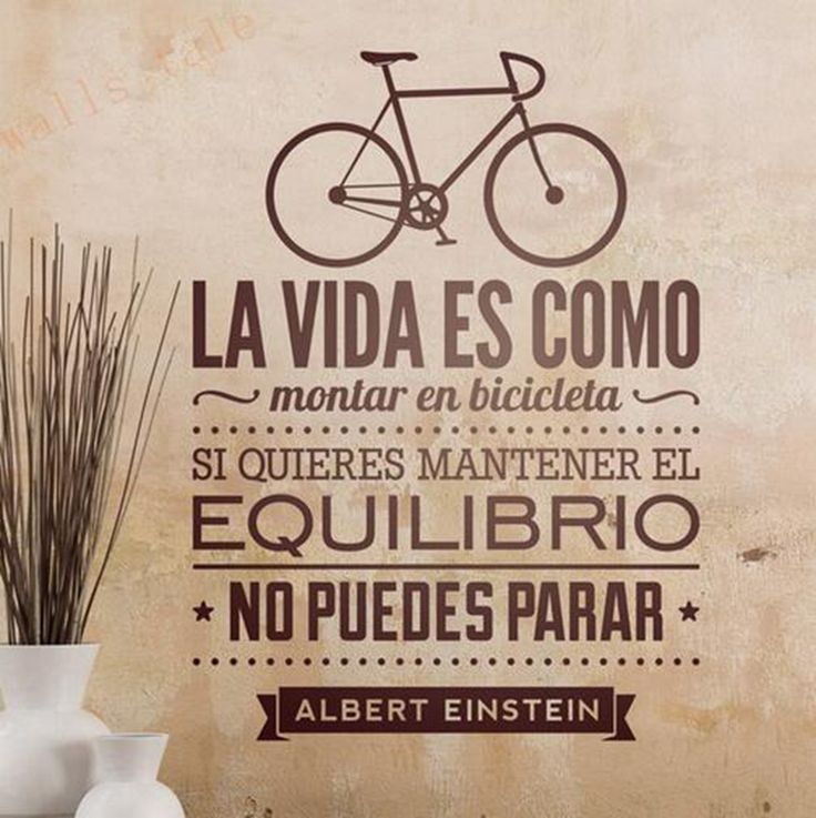 Aliexpress.com: Comprar Vinilos decorativos de bicicletas decoración del hogar   la vida es como que monta una bicicleta español pared del vinilo pegatinas Espana de etiqueta de la pared tienda fiable proveedores en i story