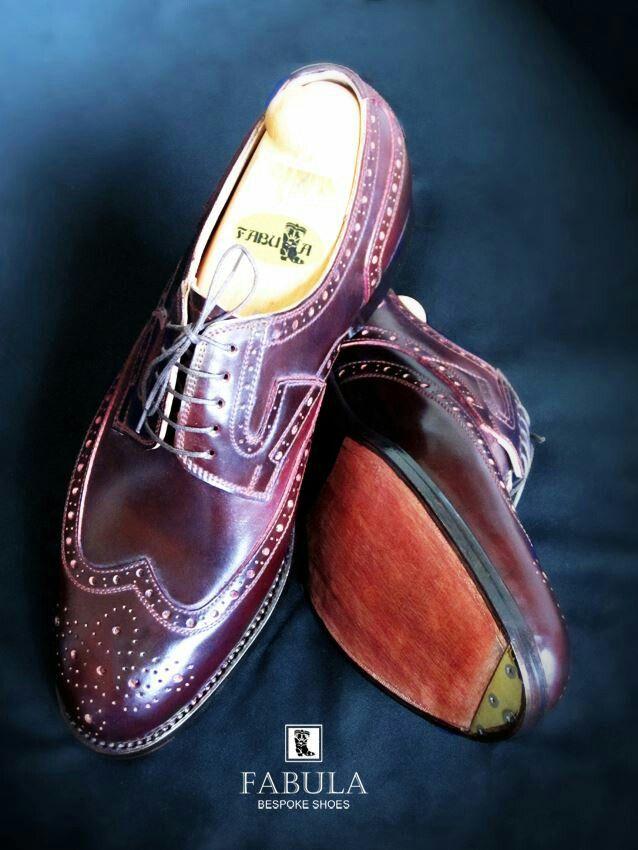 Fabula Bespoke Shoes. Unique handmade, bespoke men's shoes. Modell: Budapest modell (Oxblood-cordovan)