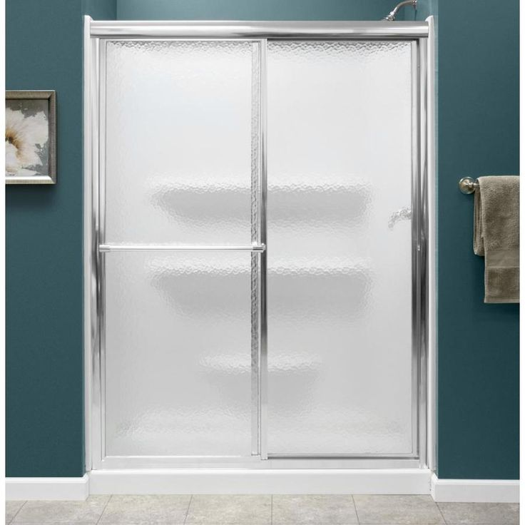Style Selections White 3 Piece Alcove Shower Kit Common X 54 In