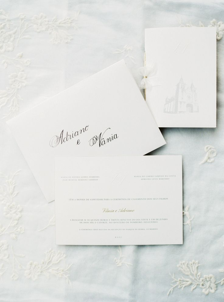 Simple Wedding Invitiations | photography by http://www.brancoprata.com/