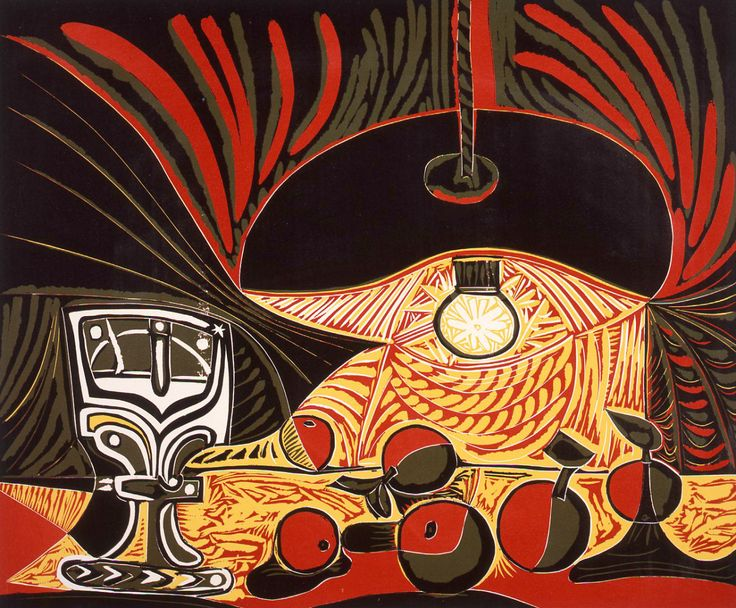 Still Life under a Lamp (1962), Pablo Picasso, this print at Amazon: http://amzn.to/1XVJmxw