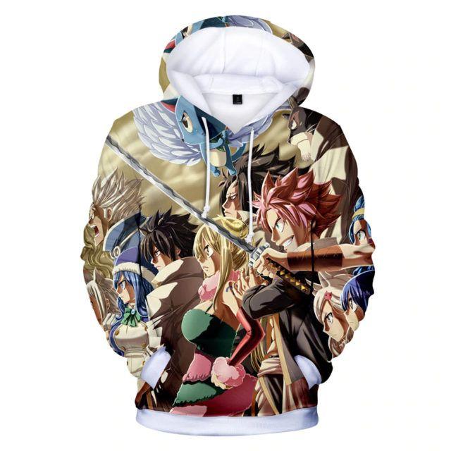 Hot Anime Fairy Tail Clothing Hooded Sweatshirt Casual Unisex Hoodie cosplay