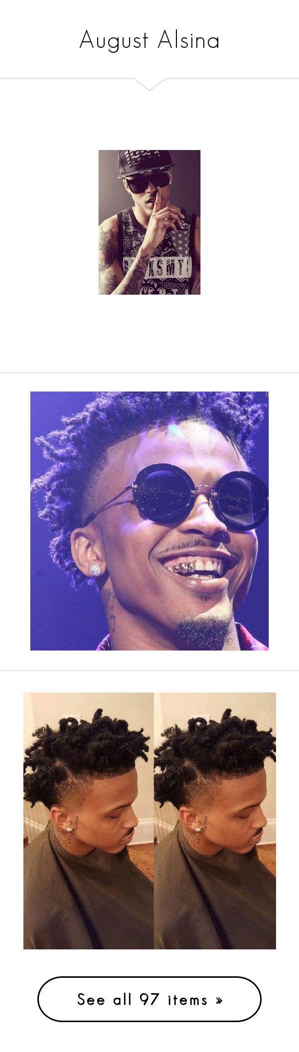 """August Alsina"" by kingkid03 ❤ liked on Polyvore featuring august alsina, august, bae, boys, pic, people, anon, pictures, celebrities and boy"