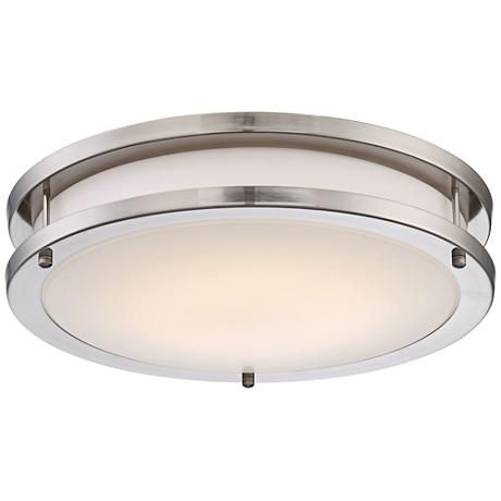 Leeds 14 1/4  Wide LED Satin Nickel Ceiling Light  sc 1 st  Pinterest & 459 best lighting images on Pinterest | Flush mount lighting ... azcodes.com