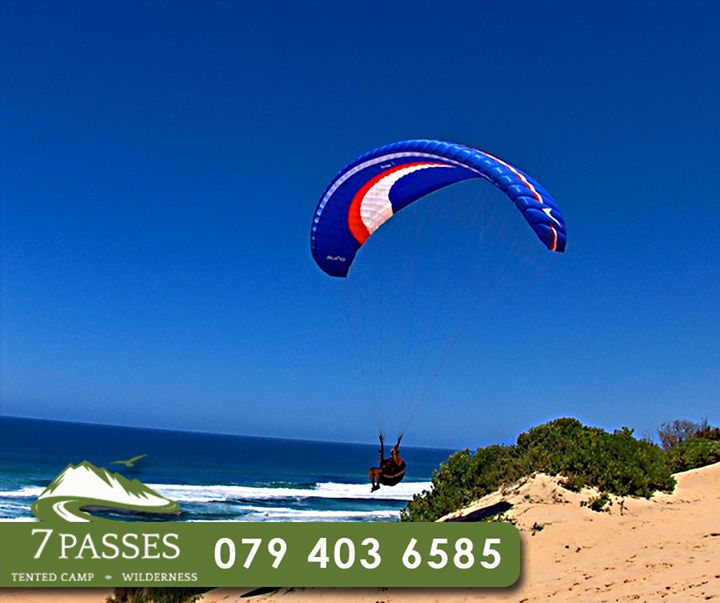 #Paragliding is one of the many adventure sports available near #7Passes, experience the beautiful landscapes from above. To book your stay call us on 079 403 6585. #Wilderness
