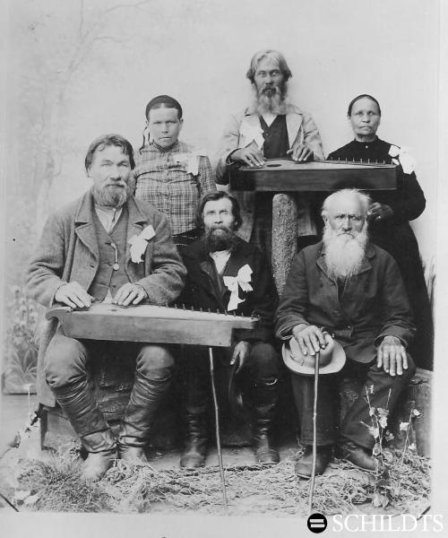 Finnish rune singers, song festival, Helsinki (1900)