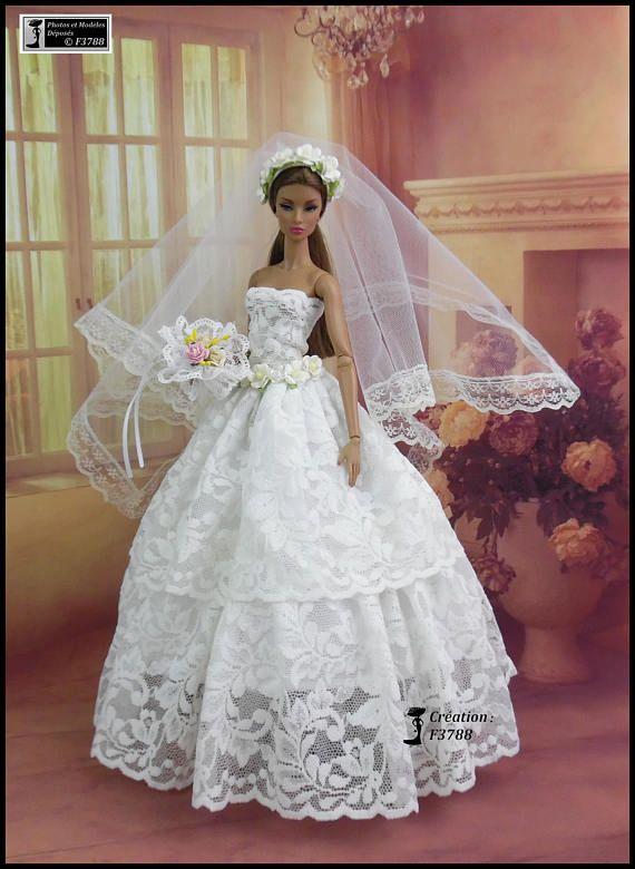Barbie Wedding Dress N27 Barbie Outfit Wedding Dress For Barbie Doll