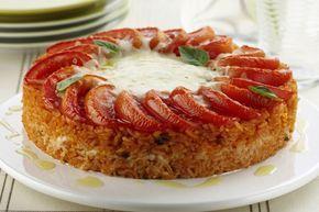 Torta de arroz com mussarela: fácil de preparar e delicioso
