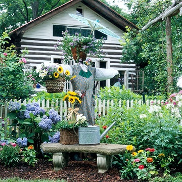 Might just have to do this scarecrow in our garden  Be Whimsical