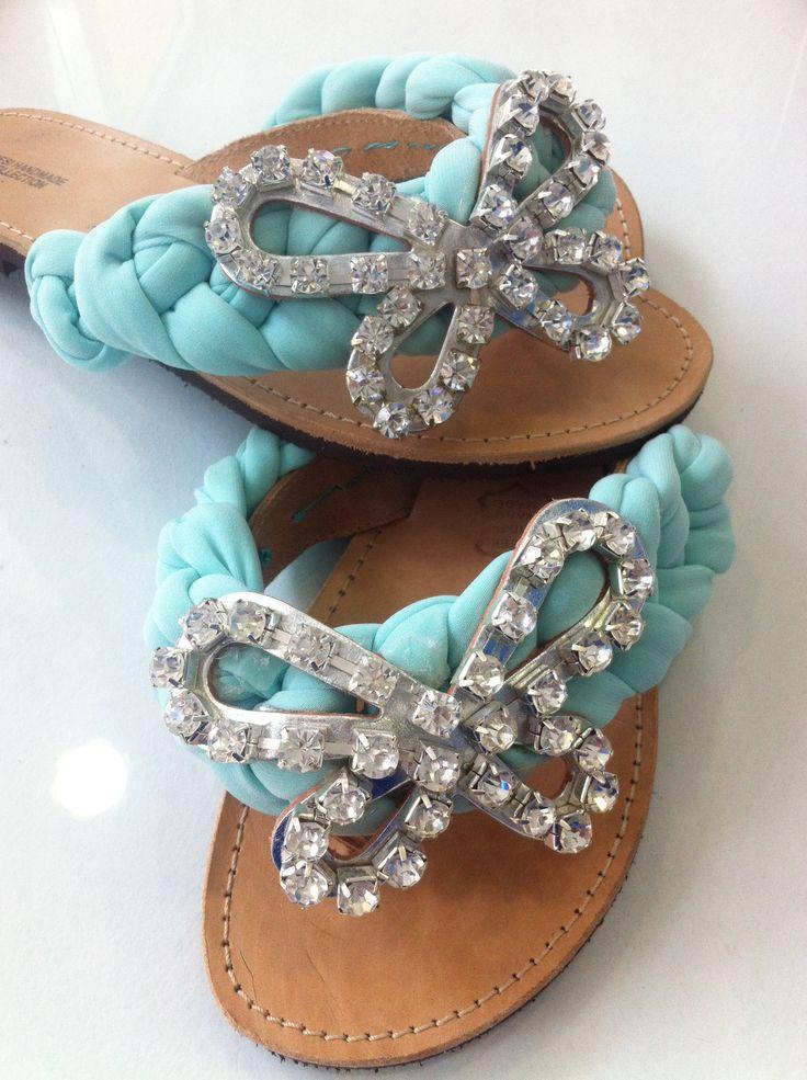 Handmade decorated Greek sandal!!