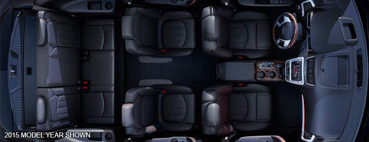2016 GMC Acadia Denali mid-size luxury SUV with fold flat second and third row seats